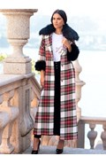 Plaid overcoat