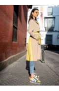 Two color trench coat