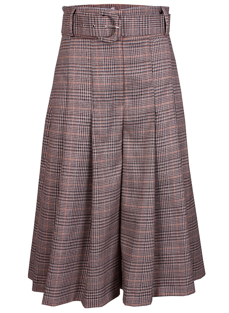 Checker belted cullotes